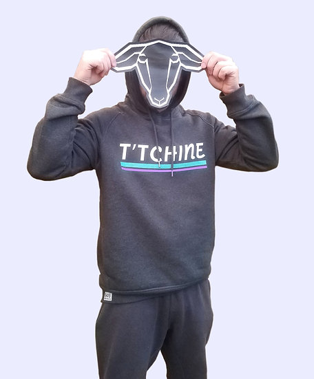 Sweat-shirt capuche T'TCHINE Gris oxford chiné