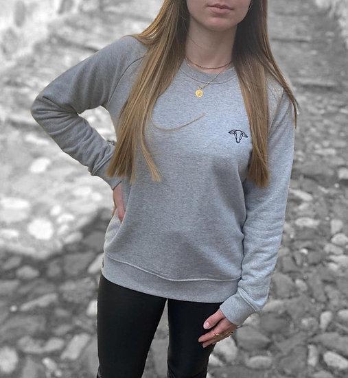 Sweat-shirt Femme Gris chiné ~ Neïra ~