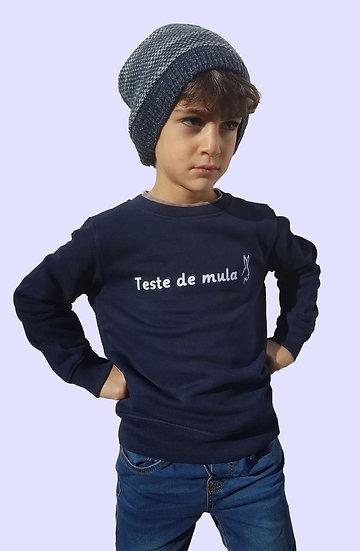 Sweat Enfant Bleu marine ~ Testa de mula ~