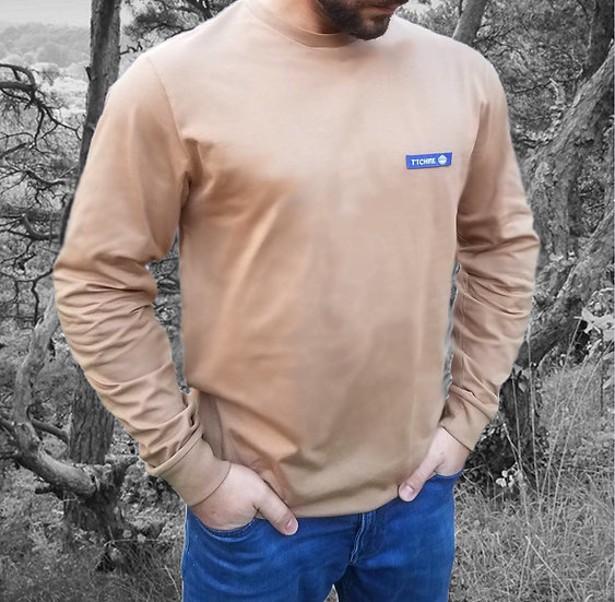 Tee-shirt Homme Camel Manches longues ~ T'TCHINE ~