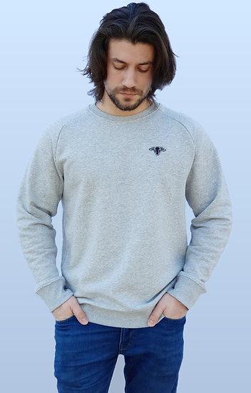 Sweat-shirt Homme Gris chiné ~ Neïra ~