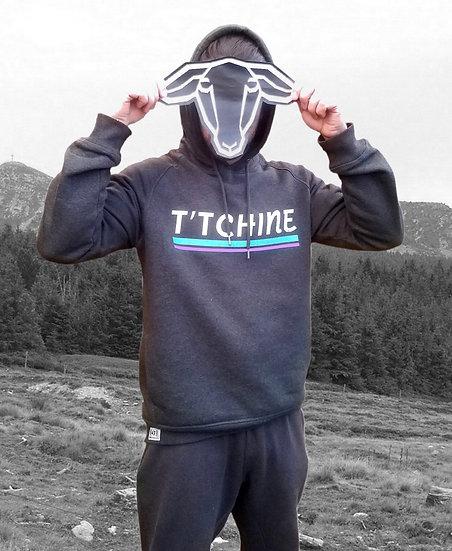Sweat-shirt capuche T'TCHINE Gris oxford chiné
