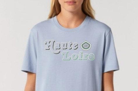 Tee-shirt UNISEXE Femme bleu ~ Haute-Loire ~