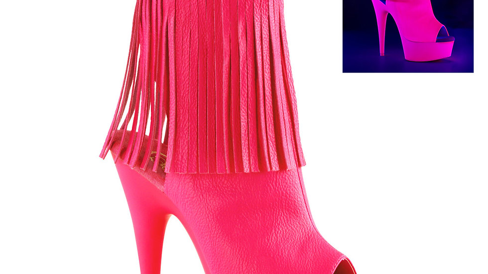 DELIGHT-1019 Neon H. Pink Faux Leather Neon H. Pink