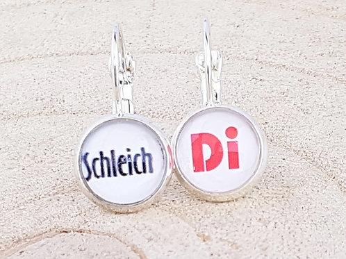 Ohrhänger silber – Schleich Di rund 10 mm - Hau ab Geh weg