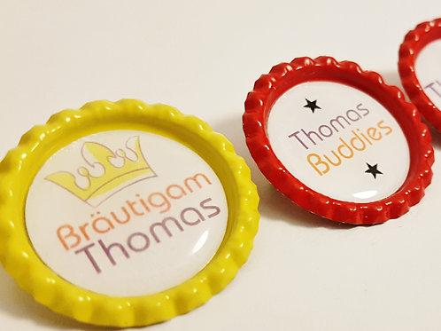 Kronkorken Button Clip - für JGA Junggesellenabschied Braeutigam