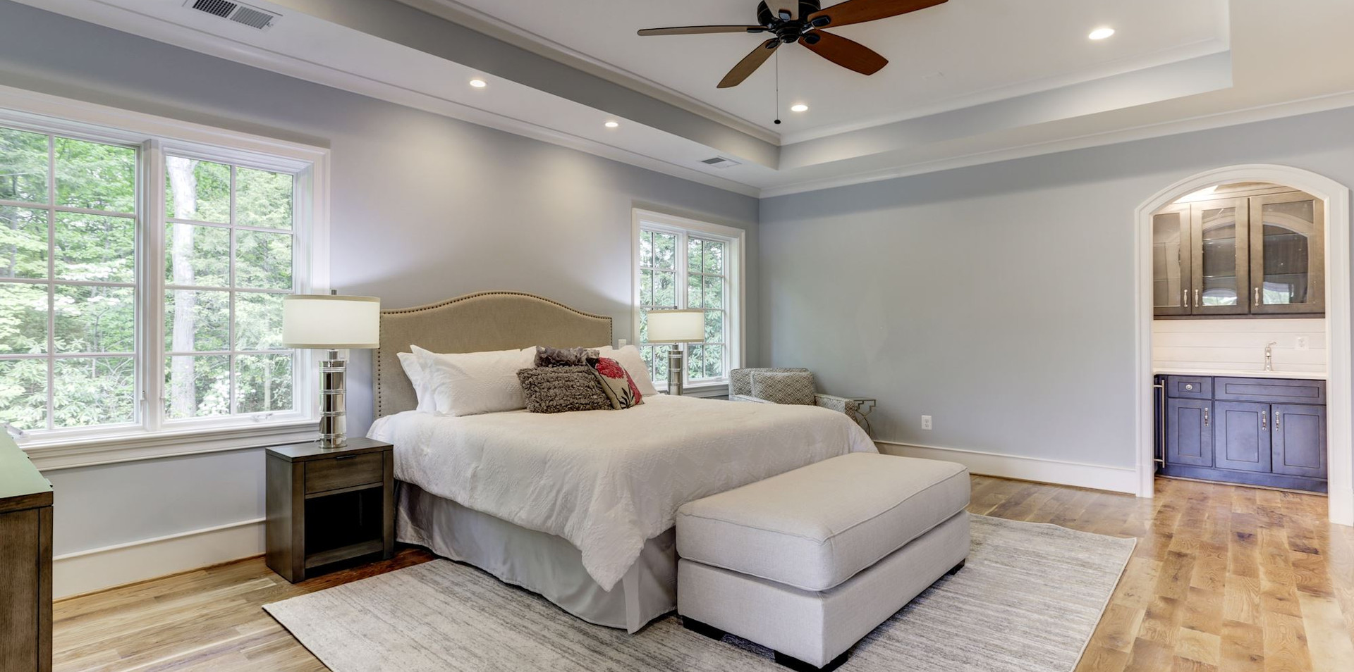 Master bedroom with cafe area