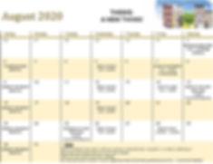 AUGUST 2020 Church Program Calendar 4 We