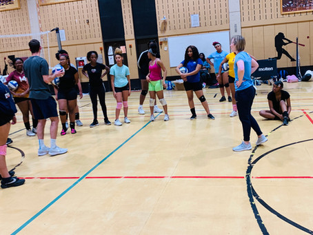 Annual Volleyball Clinic with Marquette University!