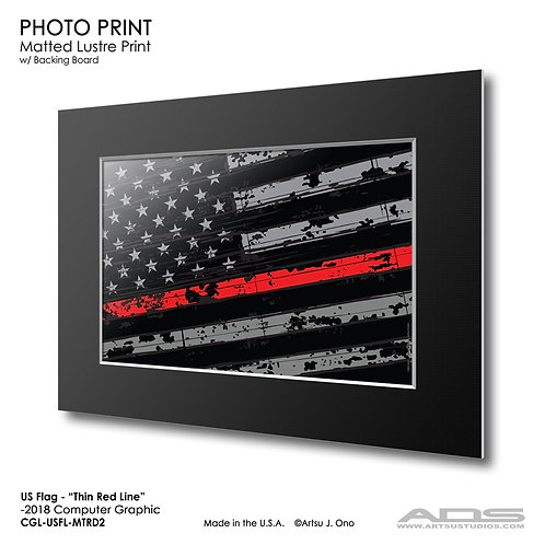 US Flag Thin Red Line: Photograph