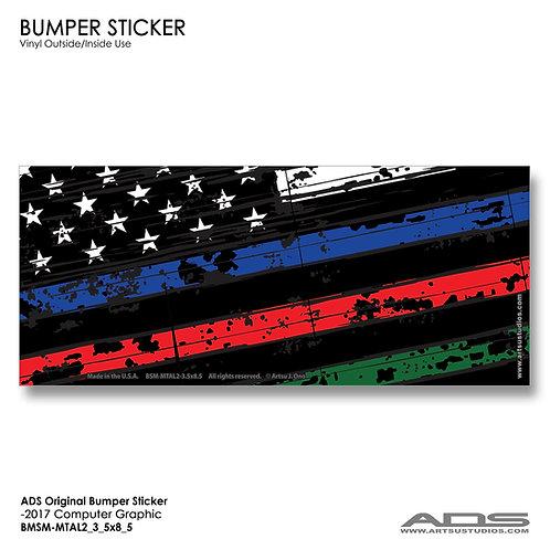 US FLAG: Bumper Sticker