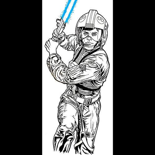 Luke Skywalker:Pro Back Box-Original Art for Star Wars Gaming