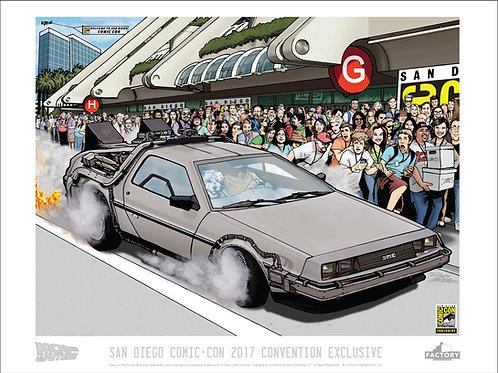 Back To The Future- San Diego Comic Con 2017 Exclusive LE Print