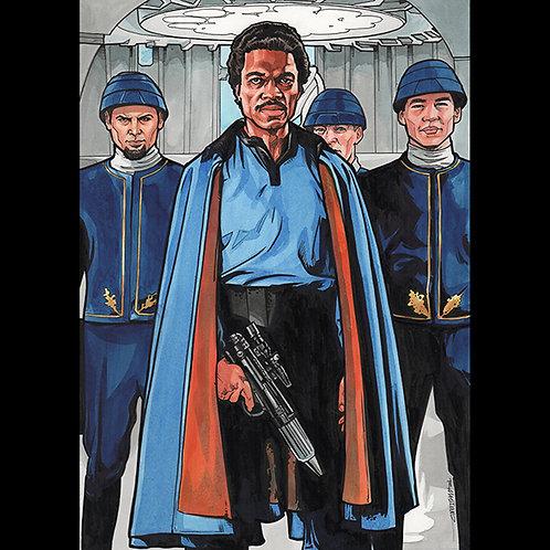Lando Calrissian- Original Art For Official Star Wars Trading Cards