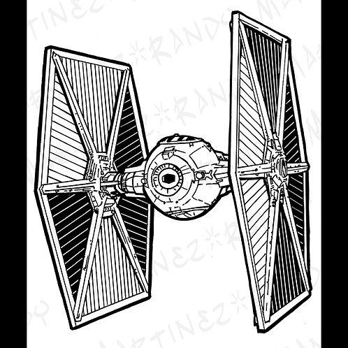TIE Fighter-Original Art for Official Star Wars Gam