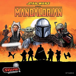 The Mandalorian Pinball Machine Promo Art. Features art of main character from show