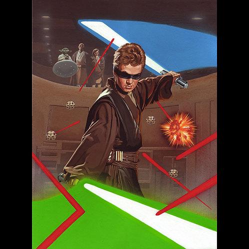 Training Anakin Skywalker- Official Star Wars Trading Card Art