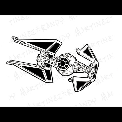 TIE Interceptor -Original Art for Official Star Wars Gam