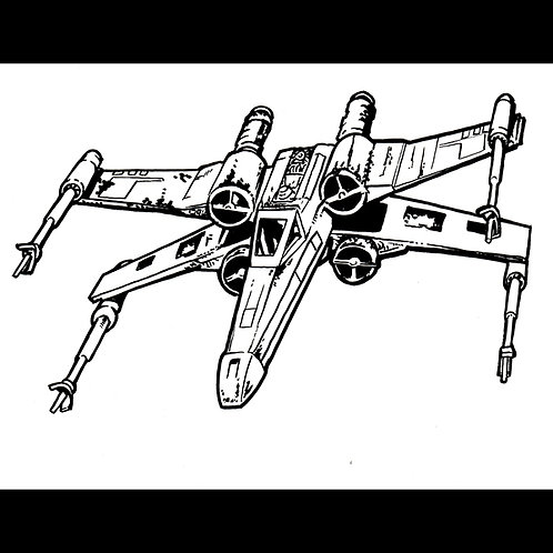 X wing Fighter-Original Art for Official Star Wars Gaming