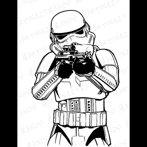 Stormtrooper:Backbox-Original Art for Star Wars Gaming