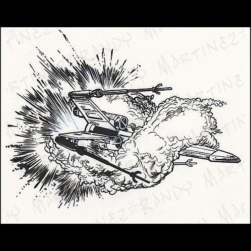 X wing Fighter-Original Art for Official Star Wars Gam