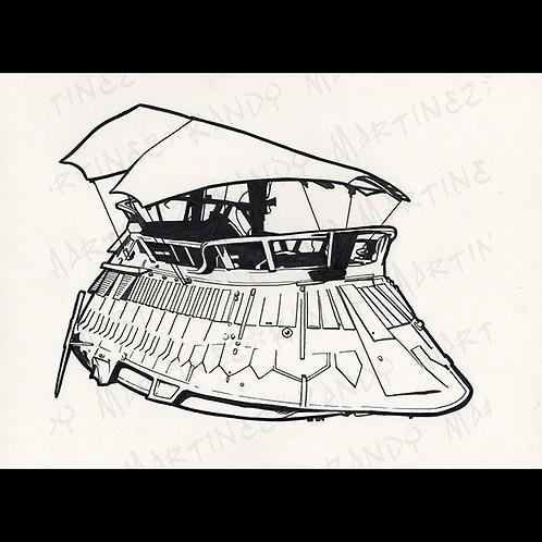 Jabba Sail Barge -Original Art for Official Star Wars Gam