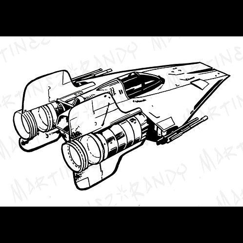 A-Wing Fighter-Original Art for Official Star Wars Gaming