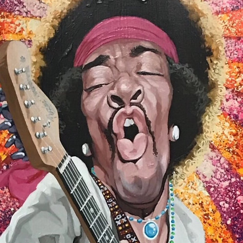Jimi Hendrix Skateboard Deck