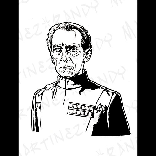 Grand Moff Tarkin : Back Box- Original Art For Official Star Wars Gaming