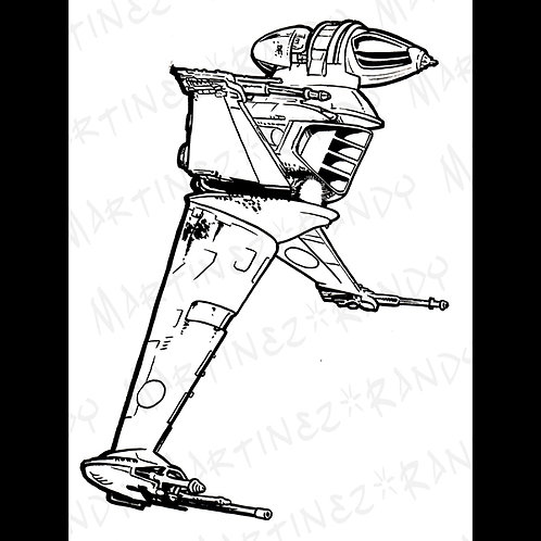 B-Wing Fighter-Original Art for Official Star Wars Gaming