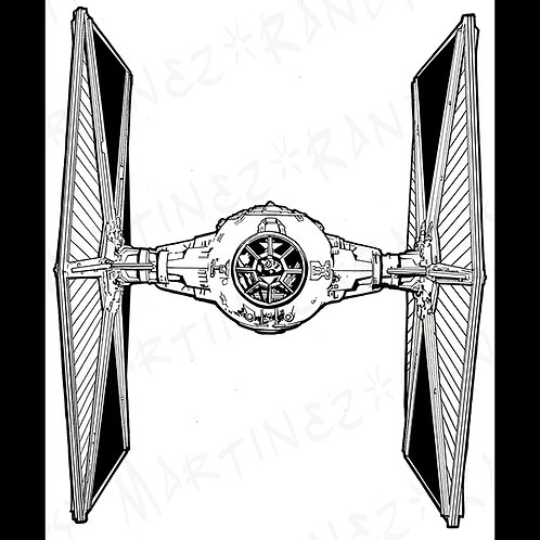 Imperial TIE Fighter-Pro Cabinet Original Art for Star Wars Gaming
