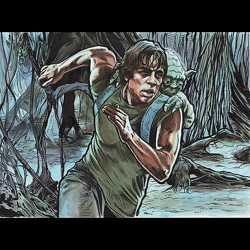 Jedi Training-Official Star Wars Trading Card Art