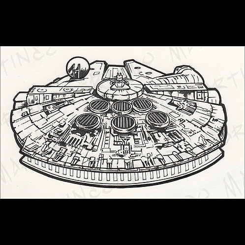 Millennium Falcon: Playfield- original Art for Official Star Wars Gaming
