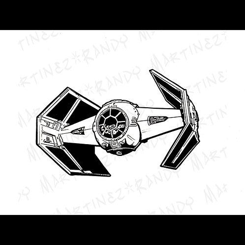 Darth Vaders TIE Advanced X2 -Original Art for Official Star Wars Gam