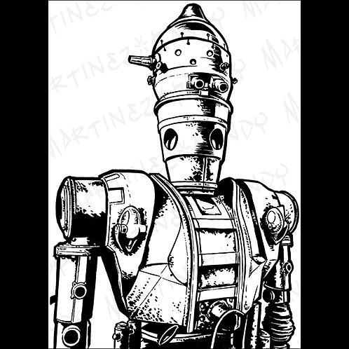 IG88 : Backbox-Original Art for Official Star Wars Gaming