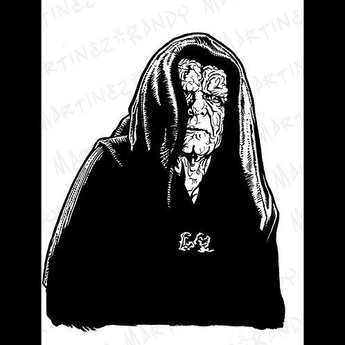 Emperor Palpatine : Back Box- Original Art for official Star Wars Gaming
