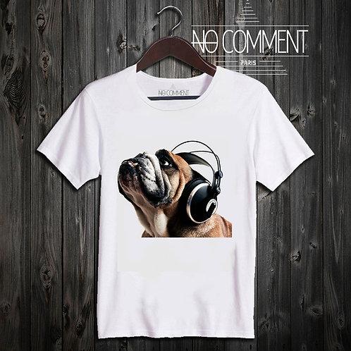 t shirt dog headphone ref: FUN22