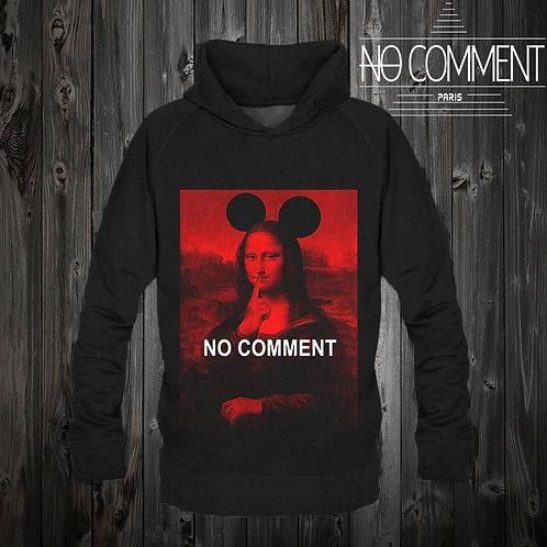 Sweat capuche noir Mona lisa red: NCPCAP01