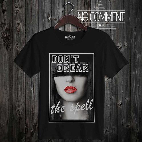 tee shirt noir-don't break the spell-TEND13