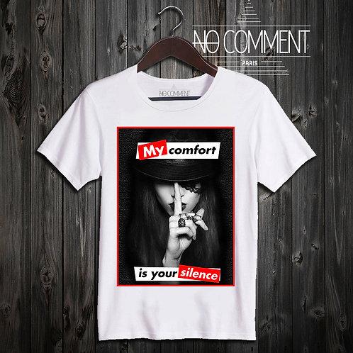 t shirt my silence ref: LTN111