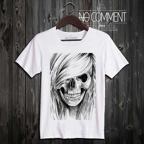 T Shirt Rock-girl skull UND07