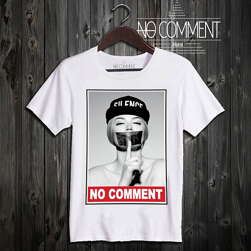 t shirt silence no comment ref: HIP13