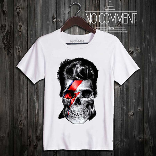 t-shirt david bowie-skull UND13