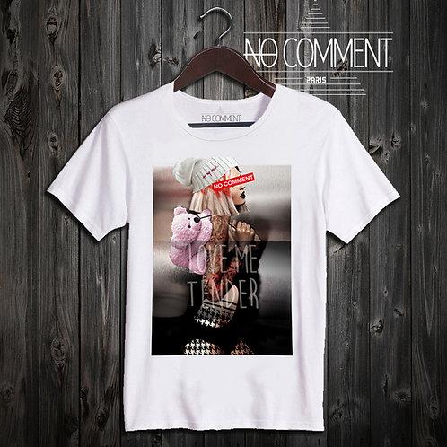 t shirt pink teddy ref: LTN250