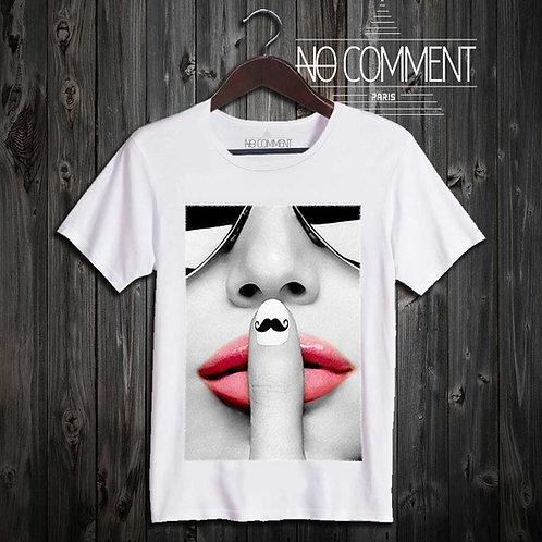 tee shirt mustache finger réf: GLAM09