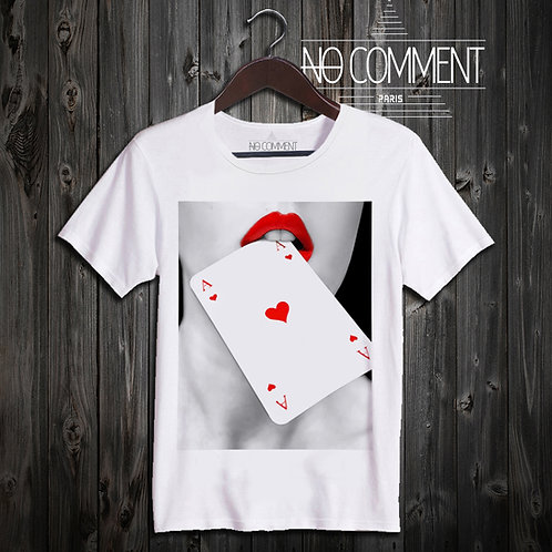 t shirt as de coeur ref: NEW41