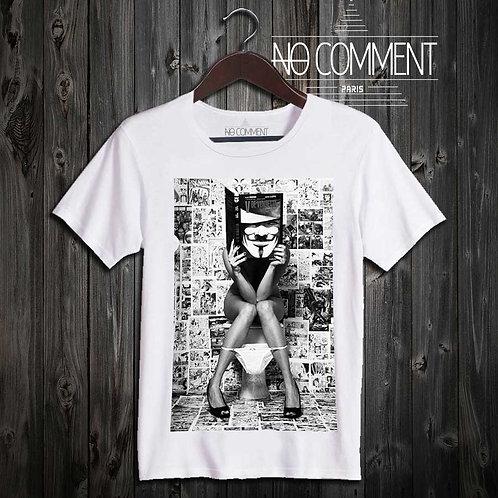 T Shirt imprimé toilet anonimous DEST12