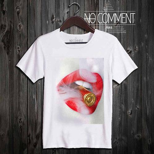 tshirt glamour bullet lips réf: GLAM04