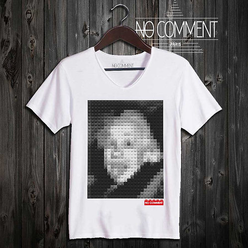 T-shirt Geek, Einstein LEGO réf: BRICK01
