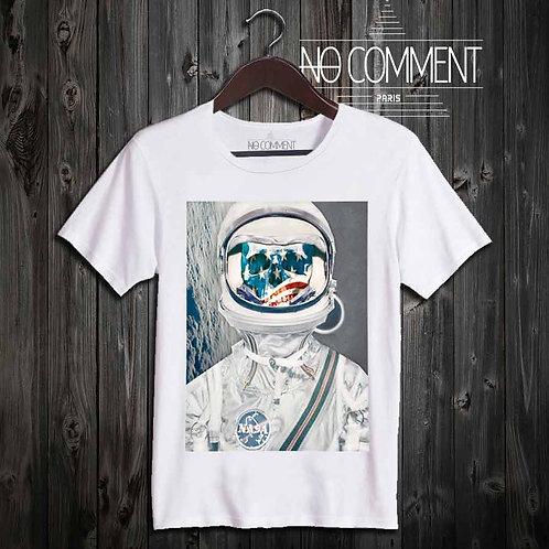 t-shirt underground, skull astronaute UND04